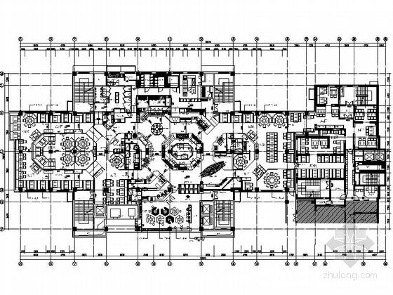 [北京]某特色中式餐厅装修施工图(含方案)