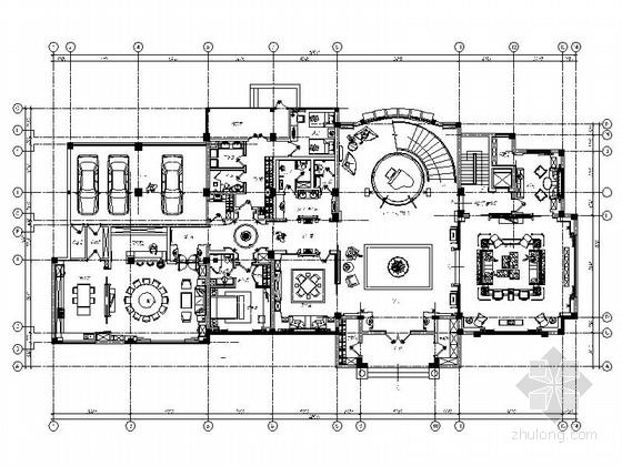 [南京]风情小镇双层别墅中式古典风室内装修图(含效果)