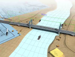 双塔双索面自锚式悬索桥施工动画演示