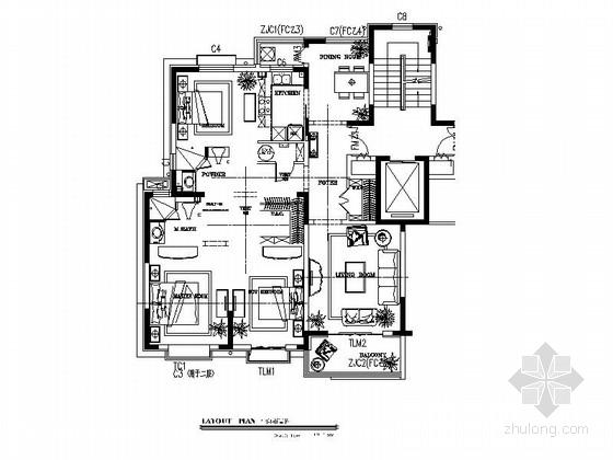 [青岛]简欧风格三居室样板间装修图