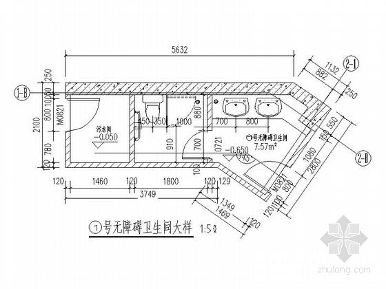 [四川]200平米小型茶室建筑设计施工图纸-详图