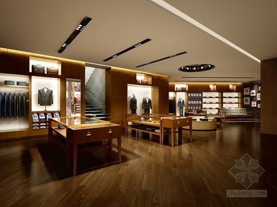 品牌男士服装专卖店3d模型下载