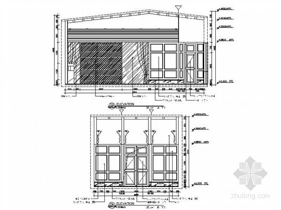 [新疆]2000平海洋主题餐厅室内装修施工图(含实景效果图)-[新疆]2000平海洋主题餐厅室内装修施工图大包间立面图