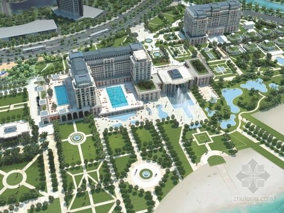 [厦门]欧式风格星级酒店规划及单体设计方案文本