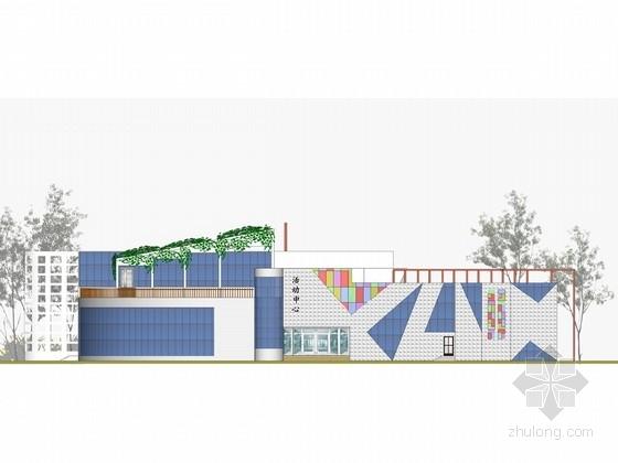 3层现代风格大学生活动中心设计方案文本(含PSD SU)