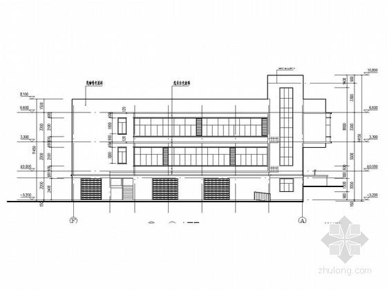 [长沙]两层砖混结构社区服务综合楼结构图(临时建筑)
