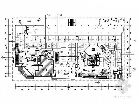 [广东]大型日用百货大楼室内装修CAD施工图