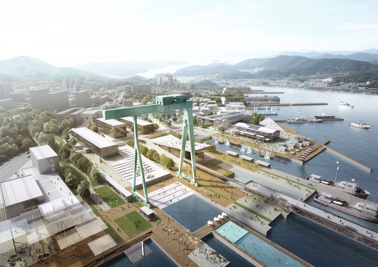 [知名设计公司特辑]走进AECOM的景观规划世界(70套资料在文末)-韩国CampMare港口城市规划-2