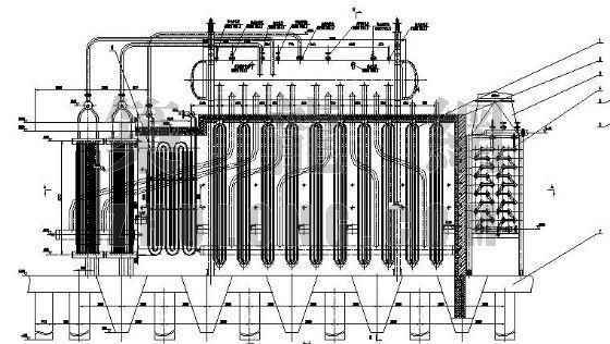 某水泥窑余热锅炉设计图