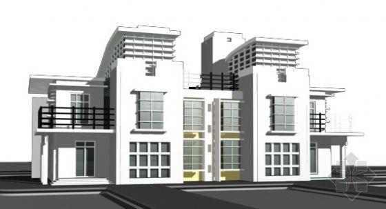 西式别墅建筑模型