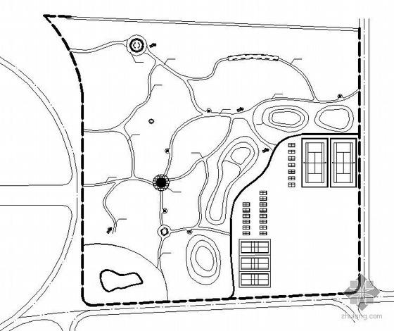 山西大学广场景观绿化施工图全套