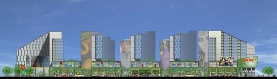 [上海]商业区规划及单体设计方案文本-立面图
