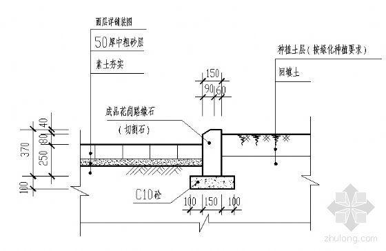标准路牙种植槽剖面图-4