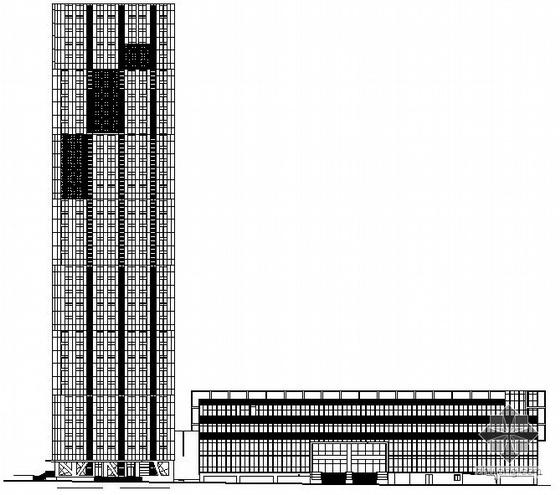 [深圳市华侨城片区]某三十四层综合性办公住宅公寓楼建筑施工图(带多张效果图)