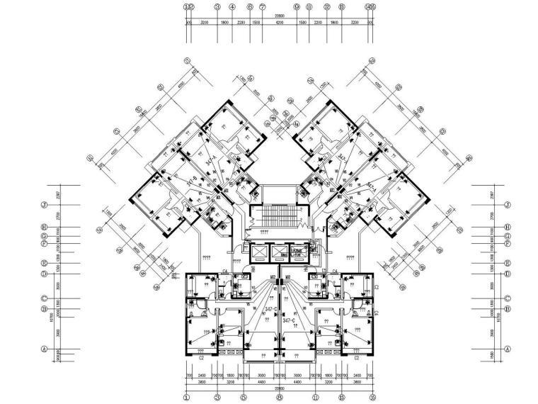 [湖南]四季花城住宅小区含地下电气施工图