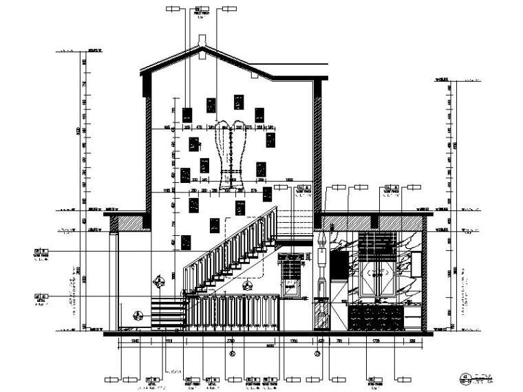 [海口]复古奢华低层别墅样板间室内设计施工图(含软装方案)_2