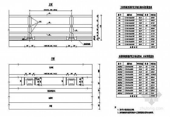 公路跨长江特大组合体系桥梁主桥路侧防撞护拦构造节点详图设计