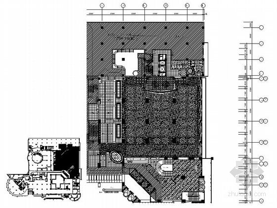 [广东]现代五星级国际大酒店中餐厅室内装修施工图