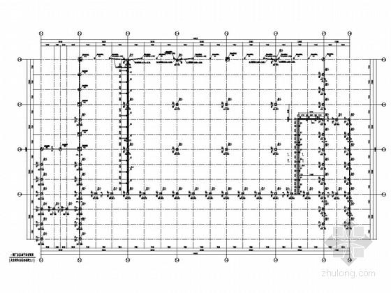[重庆]单层钢结构电气系统公司厂房结构施工图