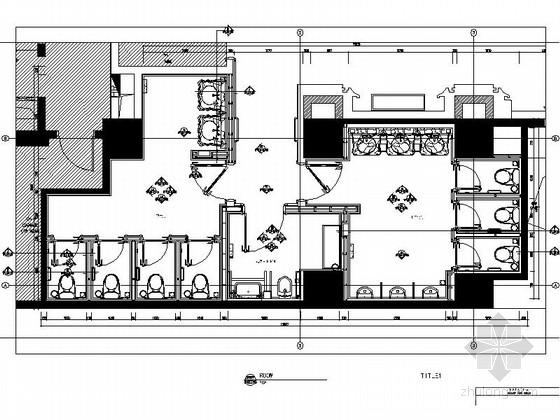 [上海]知名公司设计酒店卫生间施工图