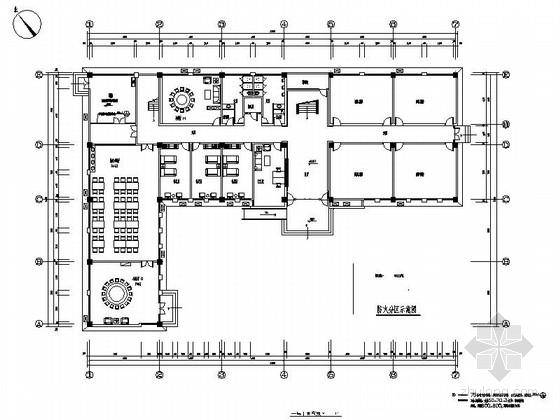 [南京]交通便利现代风格四层办公空间装修施工图(含电气)
