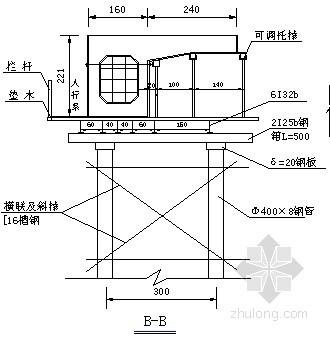 桥梁系杆支架施工图