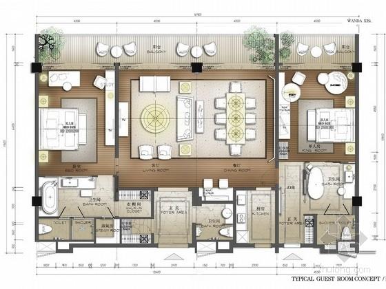 [西双版纳]四星级东南亚风格酒店室内方案图