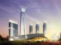 """[天津]超高层弧形""""宝瓶""""造型国际贸易中心建筑设计方案文本"""