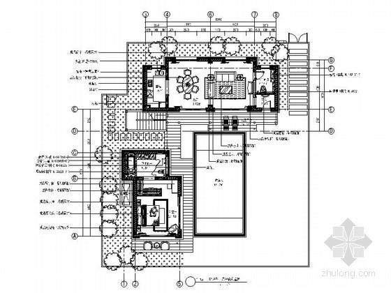 [海南]某度假区别墅C户型室内装修图