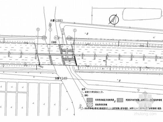 [上海]城市混凝土板梁桥梁维修改造施工图设计15张