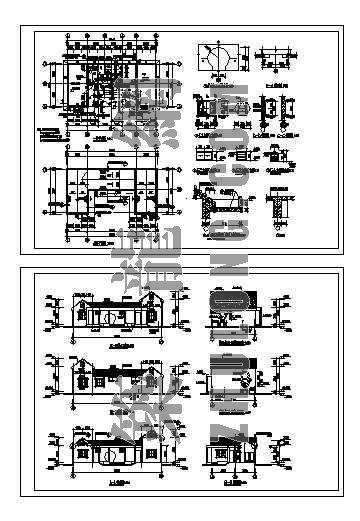 管理房及厕所建筑施工图-4