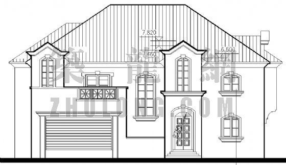 美式别墅建筑施工图
