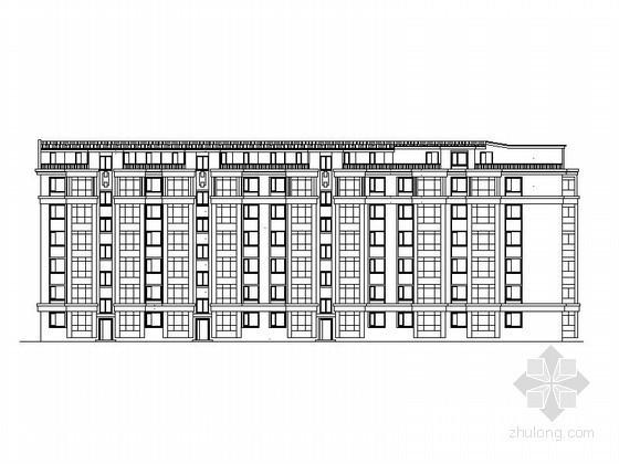 [黑龙江]某六层塔式住宅建筑方案图(9号)