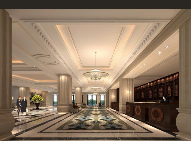 12600平方米酒店空间设计施工图(附效果图)_6
