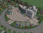 现代风格别墅/多层住宅小区规划精SU模型