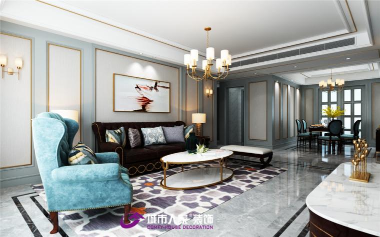 济南海尔绿城麗园装修现代美式