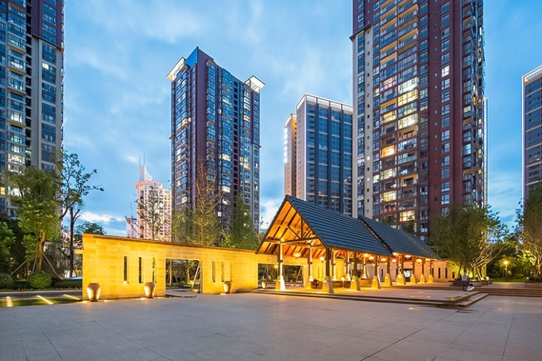 德润朗悦湾东南亚住宅景观