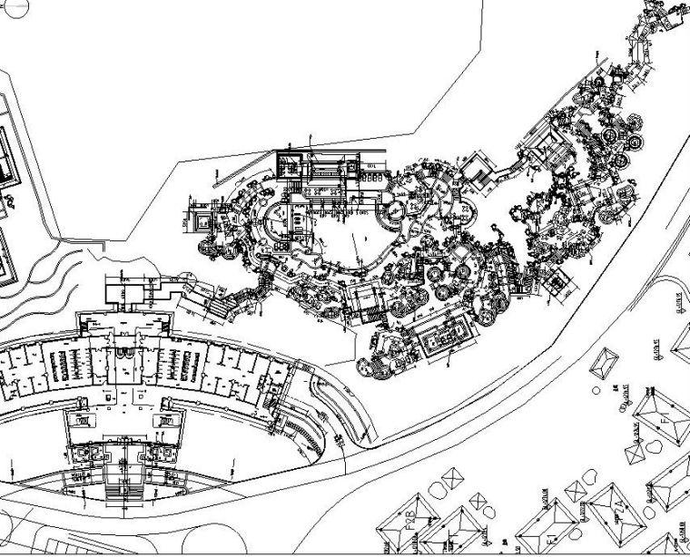 [云南]温泉度假区景观全套园景观施工图设计(CAD)