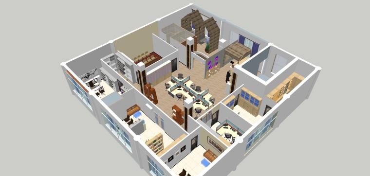 """""""梦随心飞""""小型办公空间设计_3"""