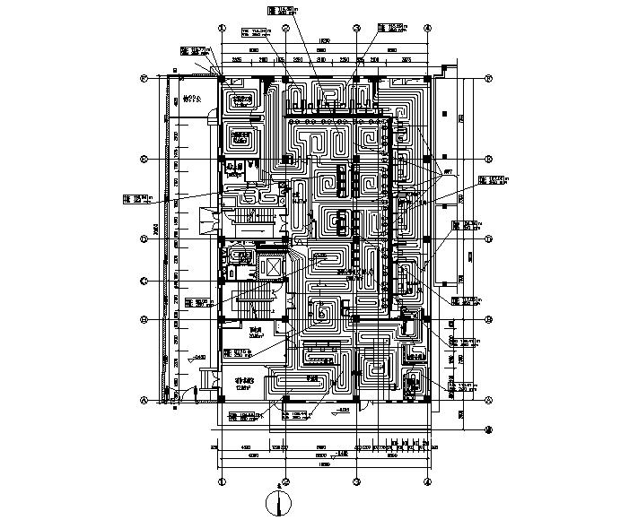 办公楼暖通设计施工图纸(排版工整)