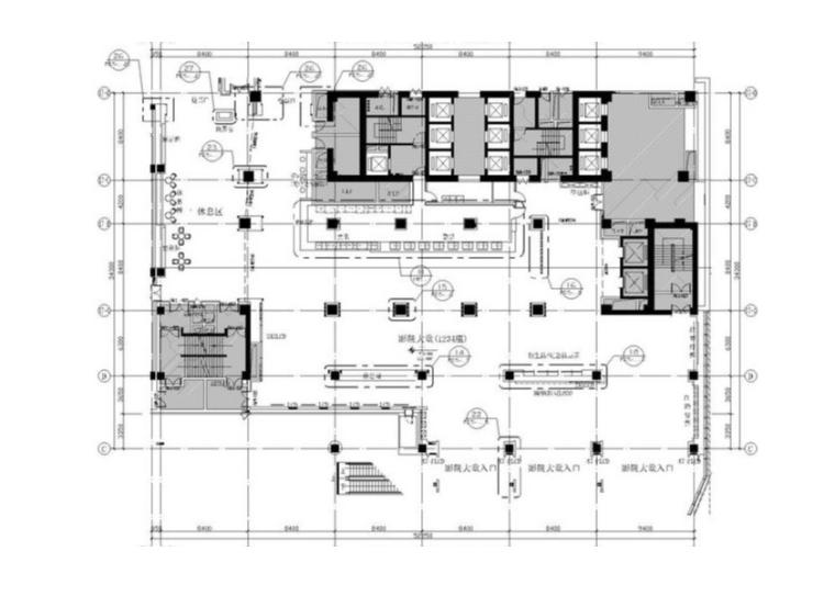 vip休息室平面图资料下载-[无锡]BONA博纳国际影城无锡茂业店设计方案+装修施工图+水暖电施工图
