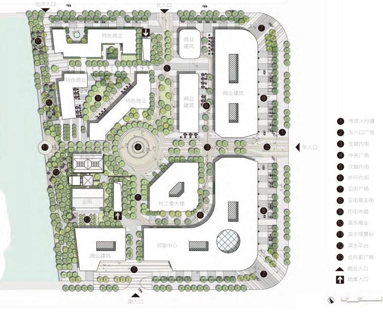 [苏州]里城高新区城市景观规划设计方案(现代风格)-商业区平面图