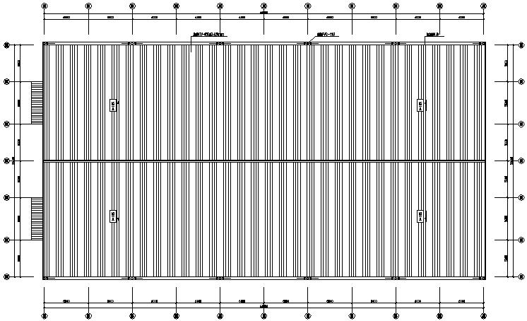 6米门式刚架钢结构施工图(cad,8张)大全符号电气图纸灯具图片