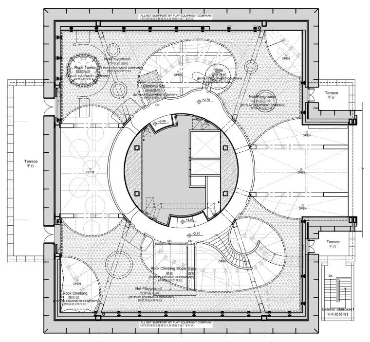 现代梦幻儿童体验区及商业配套设计施工图(附效果图)