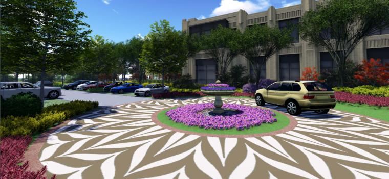 [苏州]金厦张家港梁丰生态园南侧地块展示中心概念方案设计B-8透视图