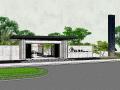 金科江湖海小区入口模型设计(新中式风格)