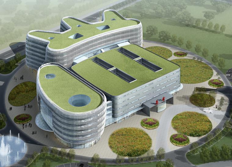 [广东]深圳绿色生态综合医院建筑方案文本(节能环保,绿色空间)