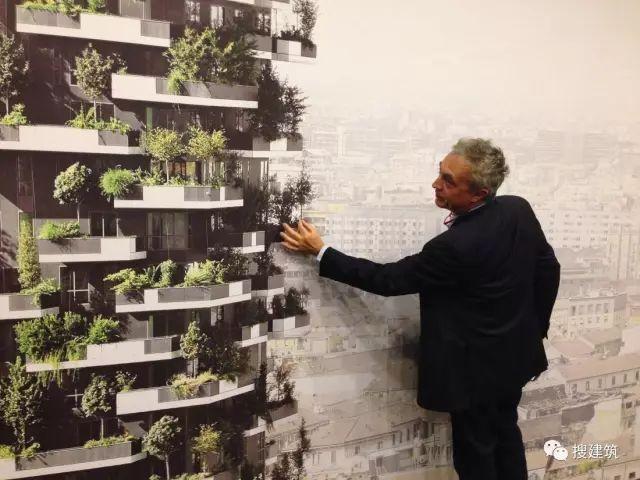 高楼上覆盖绿植,城市内造林的一种新模式。
