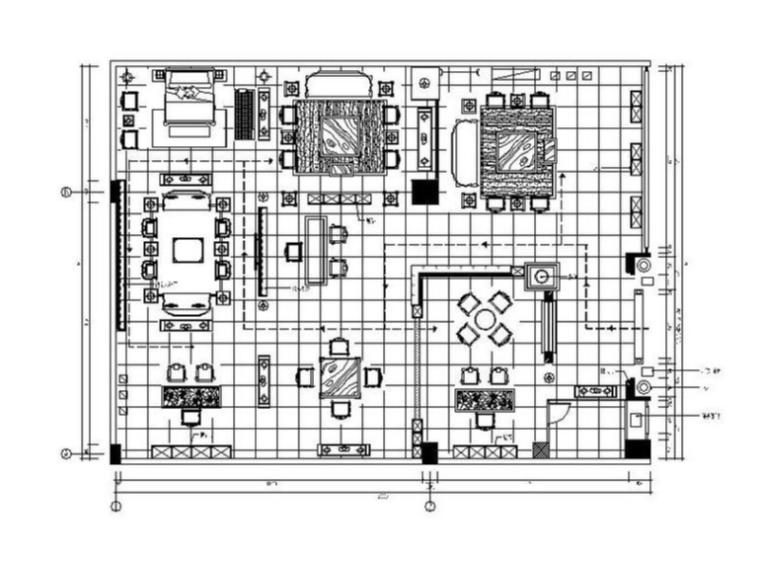 [北京]古香古色中式风展厅室内设计施工图(含效果图)