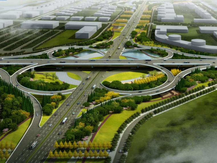 [江苏]南通星湖大道东段景观设计(道路街区景观,地景景观)